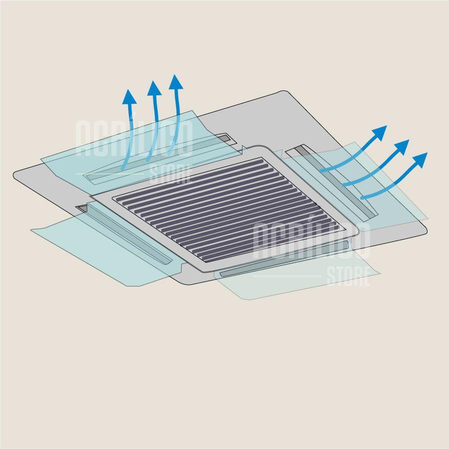 Defletor em Acrílico para Ar Condicionado Cassete 54X30cm