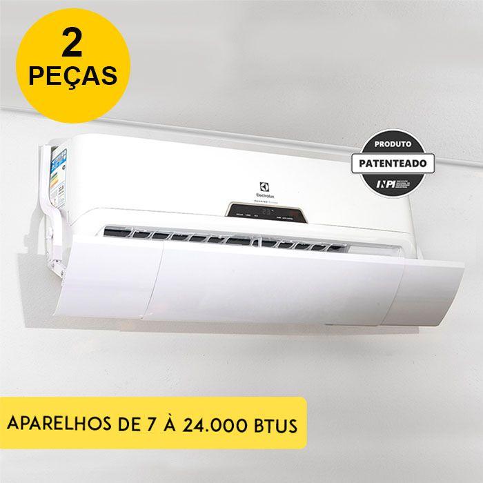 Defletor Para Ar Condicionado Split Universal Ajustável - 7 à 24.000 BTUS (Kit 2 PEÇAS)