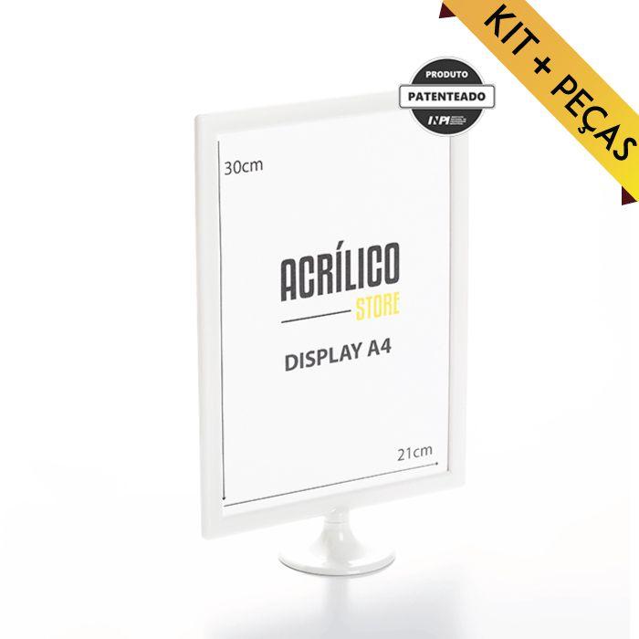 Display A4 (30x21cm) - Kit 10, 25, 50 e 100 Peças