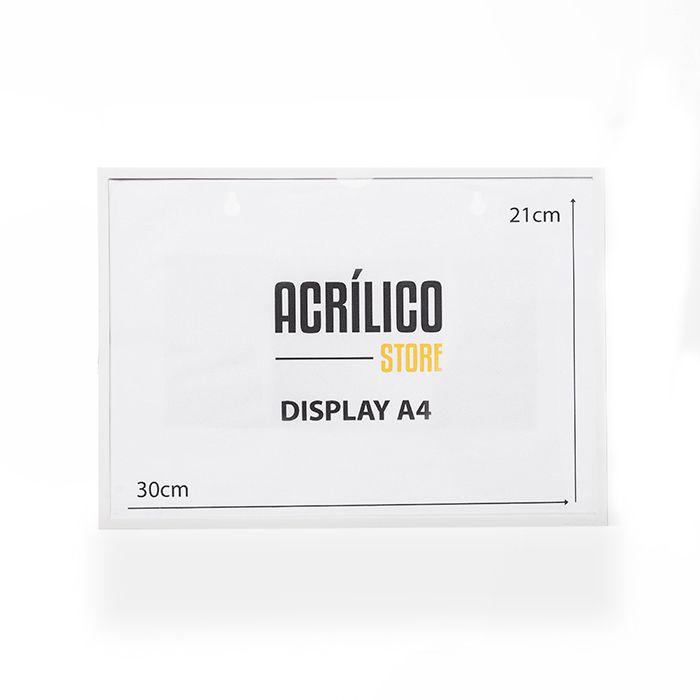 Display A4 Magnético (Imã)
