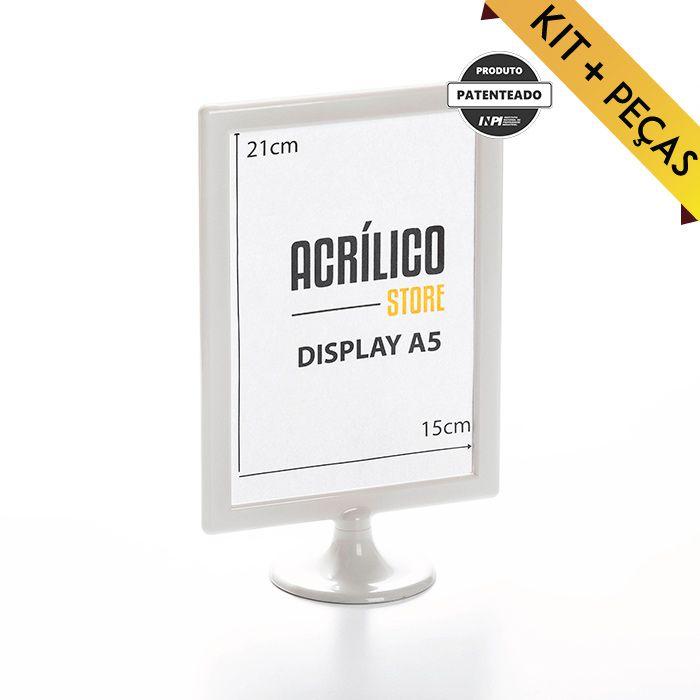 Display A5 (21x15cm) Kit 10, 25, 50 e 100 Peças