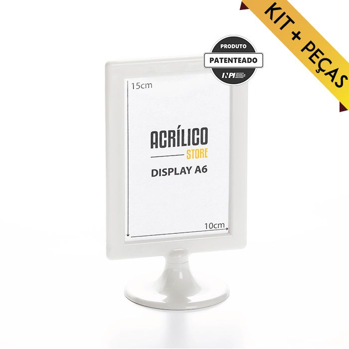 Display A6 (15x10cm) Kit 10, 25, 50 e 100 Peças