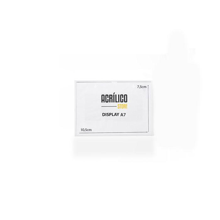Display A7 Magnético (Imã) - Kit 10, 25 e 50 Peças