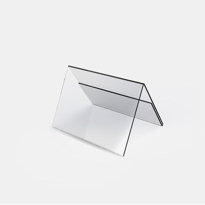 Display em Acrílico Prisma de Mesa 6,5x20cm