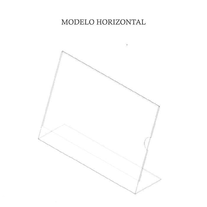 Display em Acrílico Tipo L A3 (42x30CM) Kit 10, 20, 50 e 100 Peças