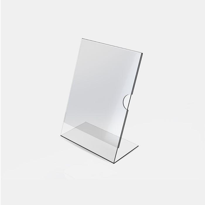 Display em Acrílico Tipo L A5 (21x15cm) Kit 10, 20, 50 e 100 Peças