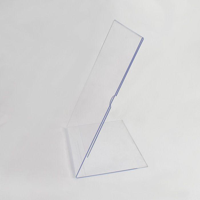 Display em Acrílico Tipo L A6 (15x10cm) Kit 10, 20, 50 e 100 Peças