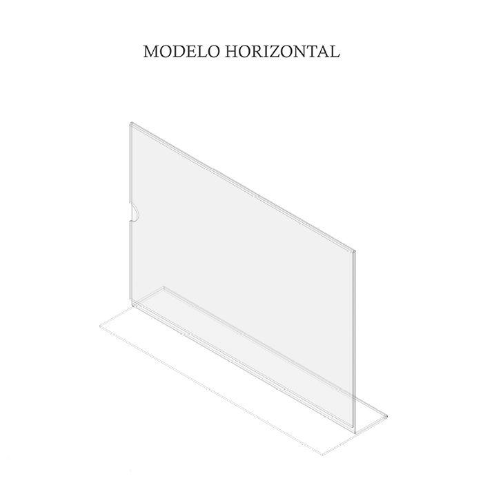 Display em Acrílico Tipo T A4 (30x21cm) Kit 10, 20, 50 e 100 Peças