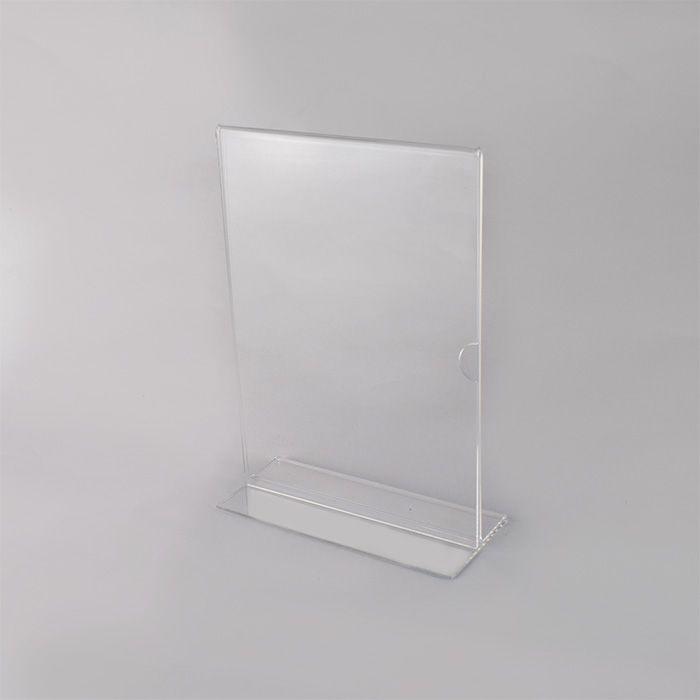 Display em Acrílico Tipo T A5 (21x15cm) Kit 10, 25, 50 e 100 Peças