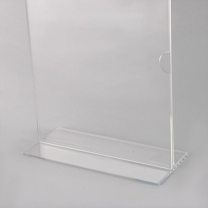 DISPLAY EM ACRÍLICO TIPO T A6 (15x10CM) Kit 10, 20, 50 e 100 PEÇAS