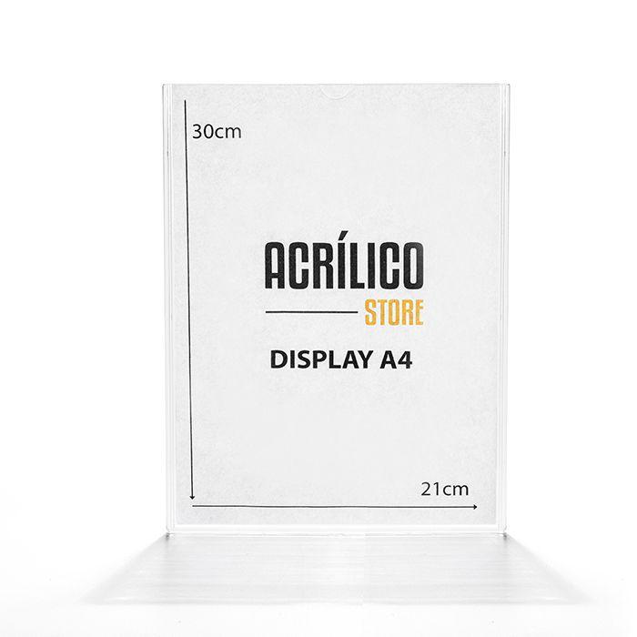Display em Acrílico de Parede A4 (30x21cm)