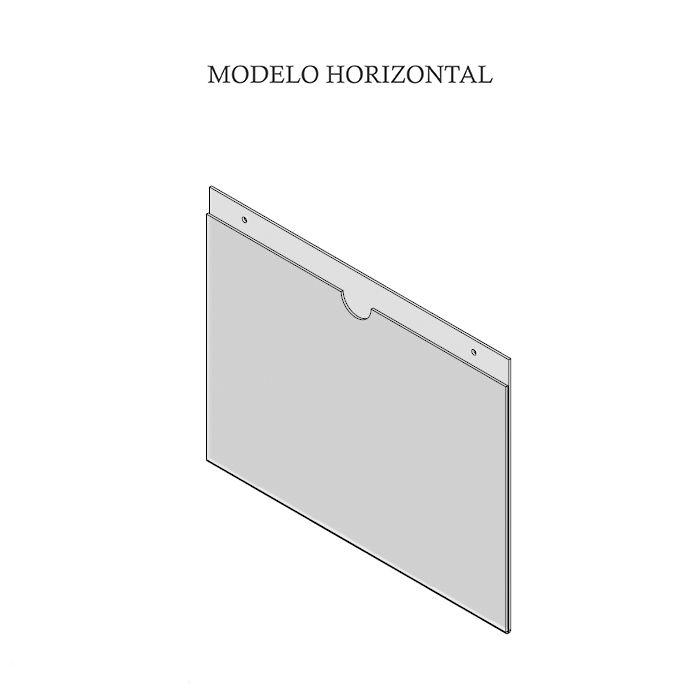 DISPLAY EM ACRÍLICO DUPLO A5 (21x15CM) KIT 10, 20, 50 e 100 PEÇAS