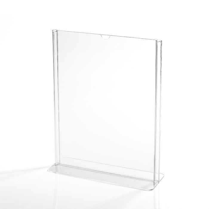 Display em Acrílico Tipo T A4 (30x21cm) Kit 10, 25, 50 e 100 Peças