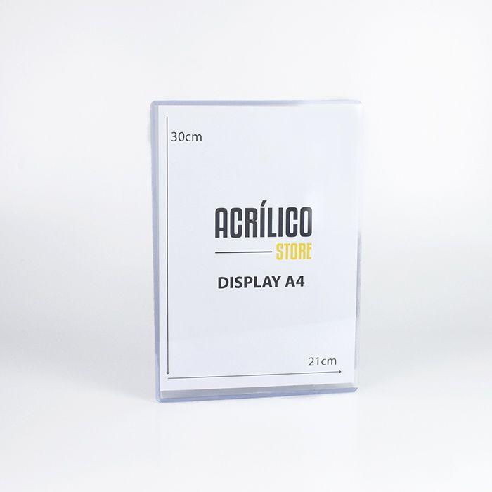 Display em PVC A4 (30x21cm)