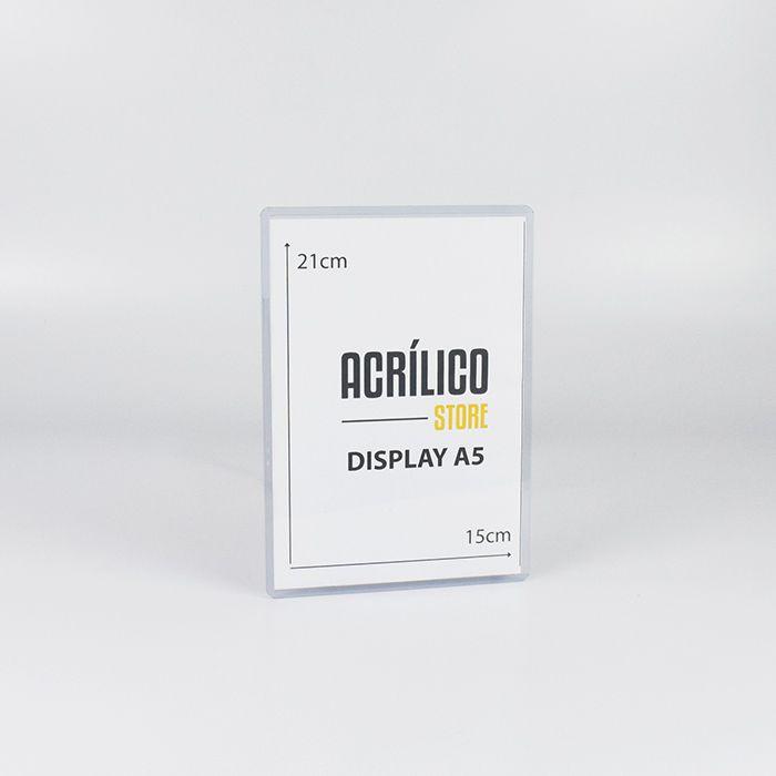 Display em PVC A5 (21x15cm)