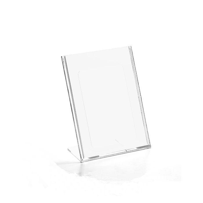 Display em Acrílico Tipo L A7 (10,5x7,5cm) Kit 10, 25, 50 e 100 Peças