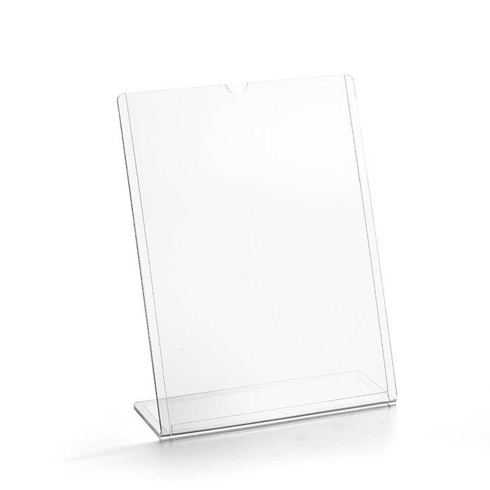 Display transparente tipo L A4 (30x21cm) Kit 10, 25, 50 e 100 Peças