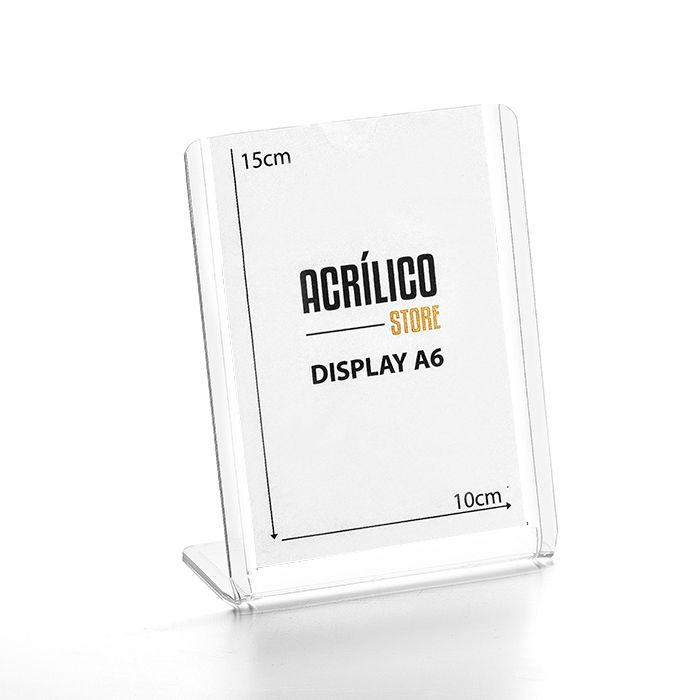 Display transparente tipo L A6 (15x10cm)