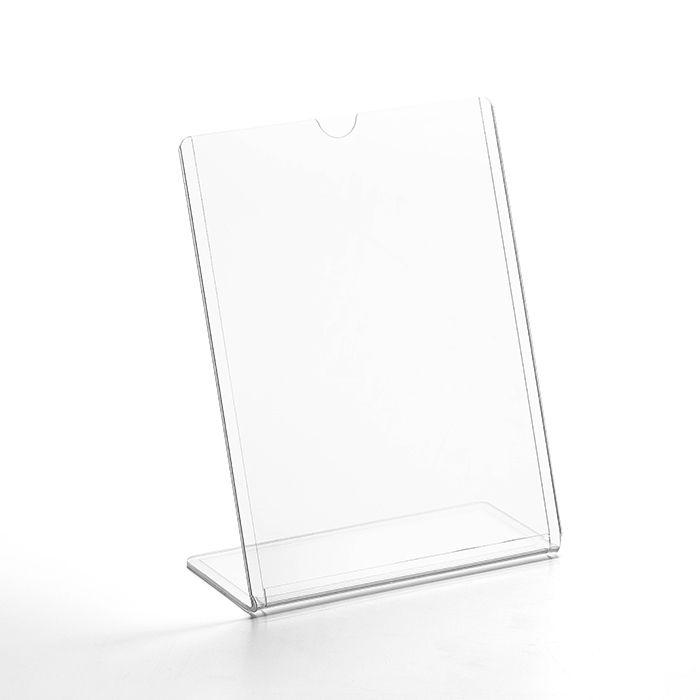 Display transparente tipo L A6 (15x10cm) Kit 10, 25, 50 e 100 Peças
