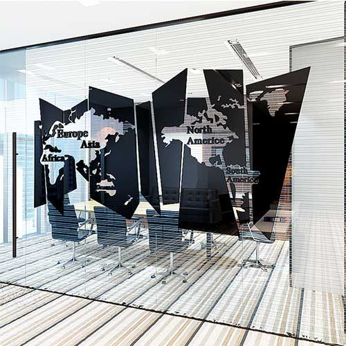Espelho Decorativo Mapa Mundi