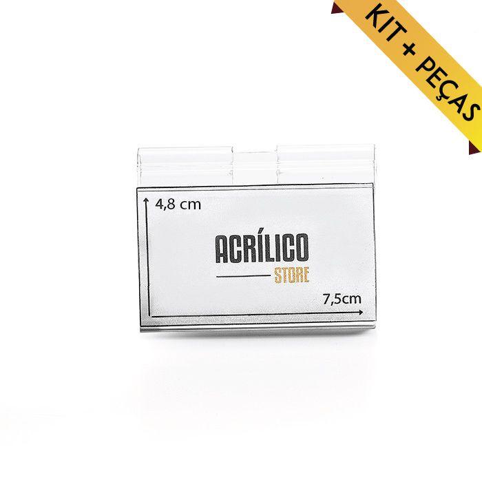 Etiqueta PVC para gancheiras 48x75mm – Kit 50 a 1000 peças