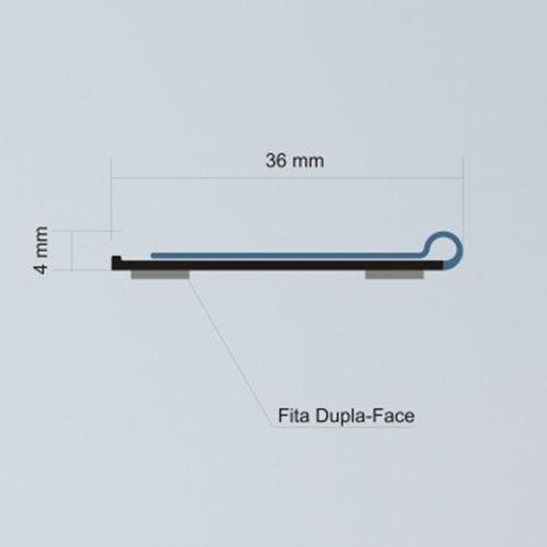 Etiqueta PVC para Gondola Modelo U - 100x3,6cm