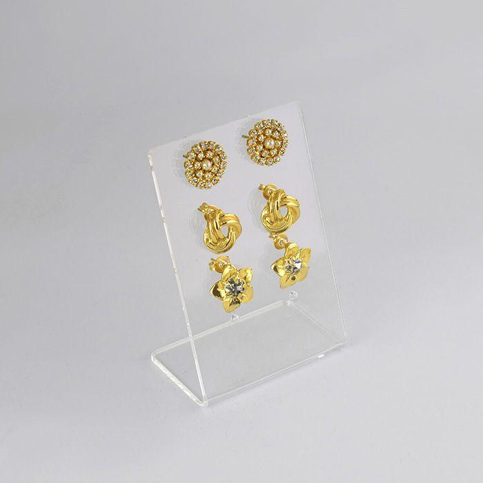 Expositor em Acrílico Cristal para Brincos Pequenos
