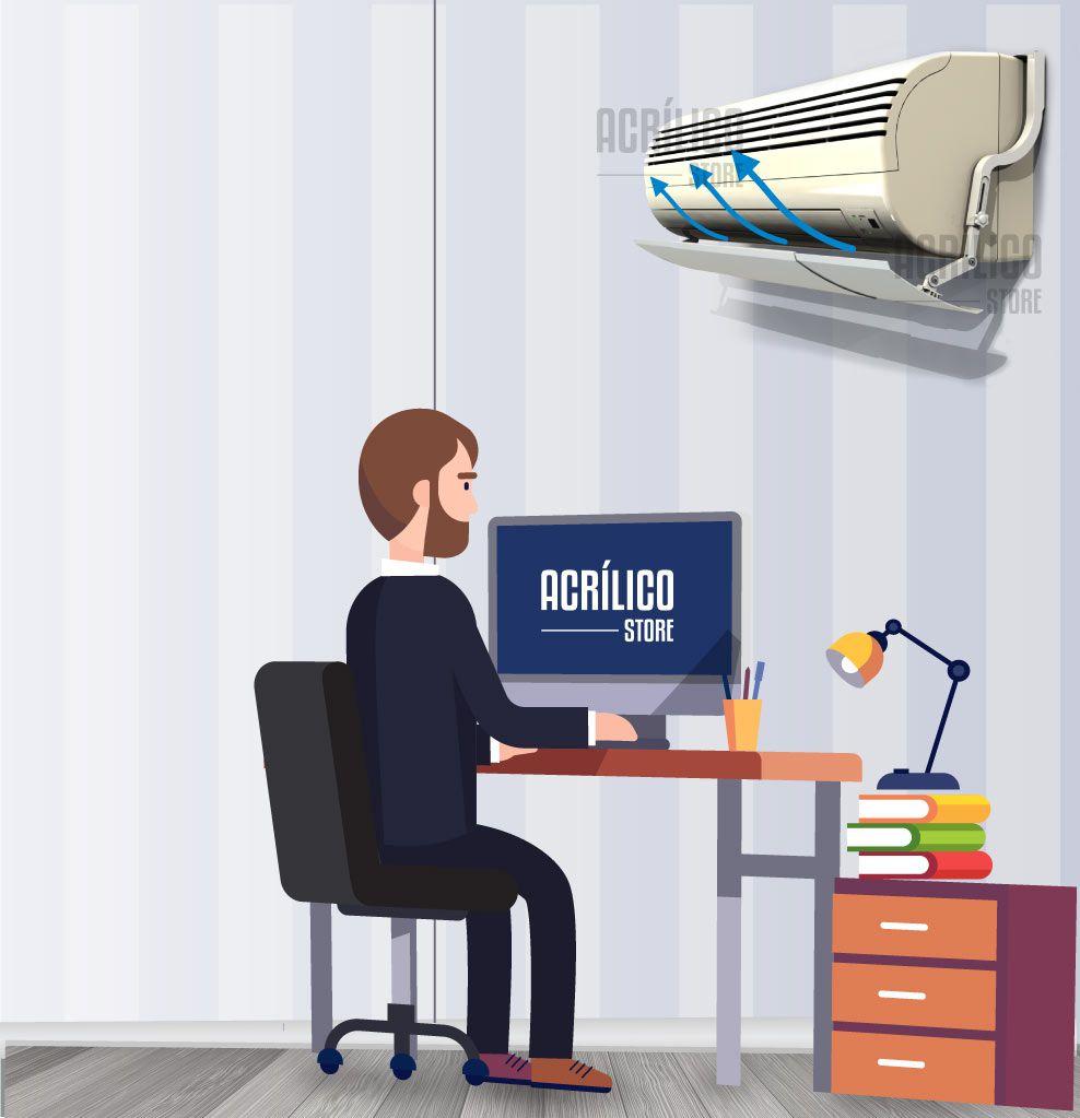 Kit Defletor Para Ar Condicionado Split Universal Ajustável - 7 à 24.000 BTUS - 2 Peças