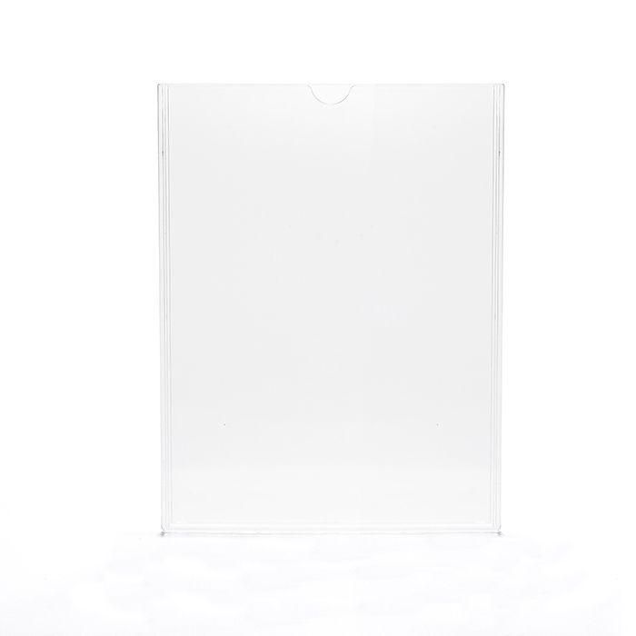 Kit Display em Acrílico Duplo A4 Vertical (21x30cm) - 10 peças