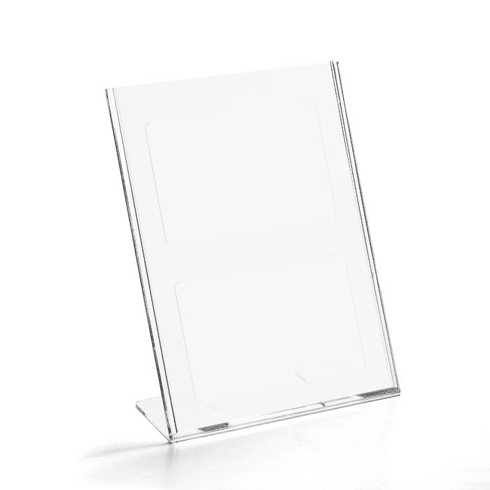 Kit Display em Acrílico Tipo L A4 Vertical (21x30cm) - 100 Peças