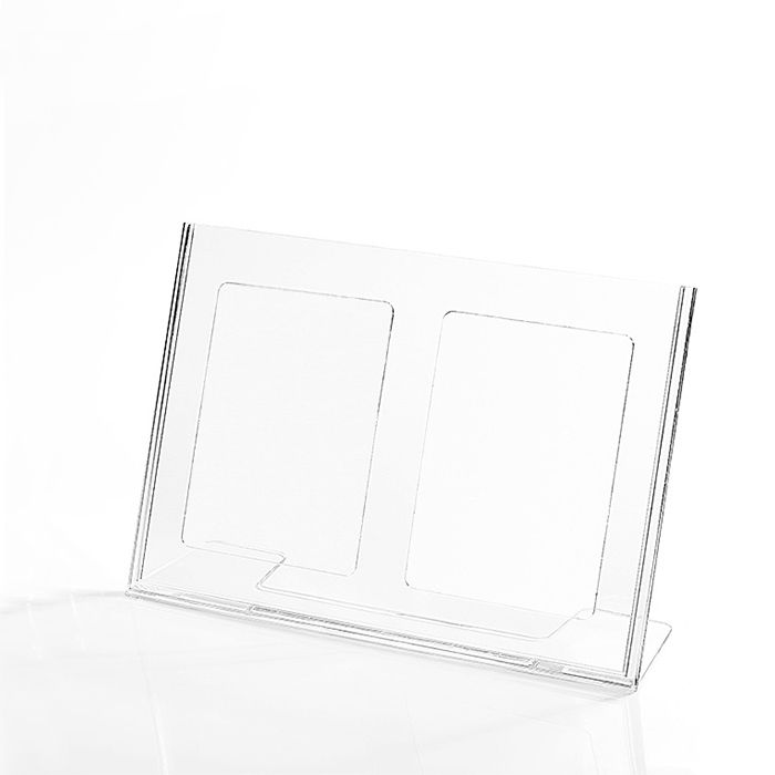 Kit Display em Acrílico Tipo L A5 Horizontal (21x15cm) - 10 Peças