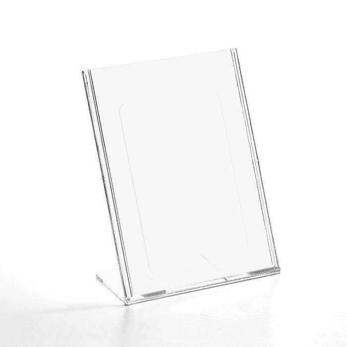 Kit Display em Acrílico Tipo L A5 Vertical (15x21cm) - 10 Peças