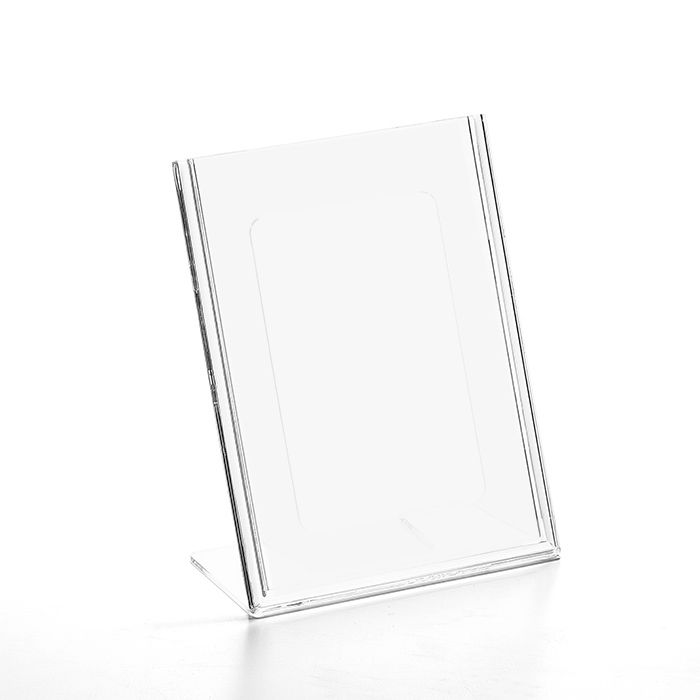 Kit Display em Acrílico tipo L A6 Vertical (10x15cm) - 25 Peças