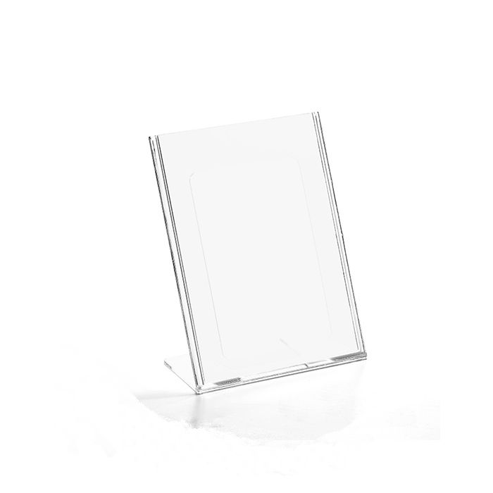 Kit Display em Acrílico tipo L A7 Vertical (7,5x10,5cm) - 10 Peças