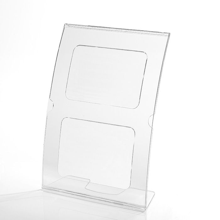 Kit Display em Acrílico tipo L Curvado A4 Vertical (21x30cm) - 100 Peças