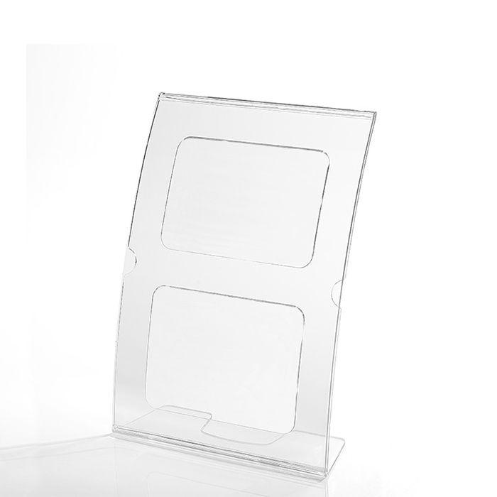 Kit Display em Acrílico tipo L Curvado A5 Vertical (15x21cm) - 10 Peças