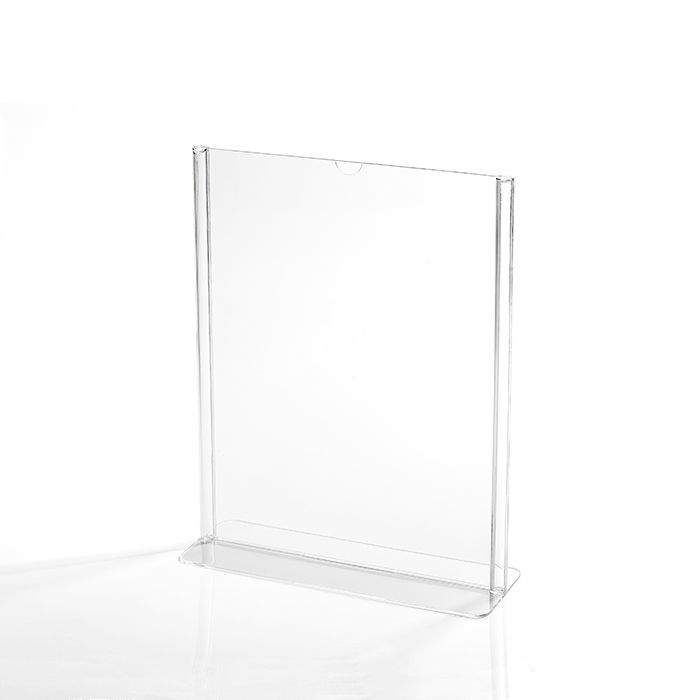 Kit Display em Acrílico Tipo T A5 Vertical (15x21cm) - 10 Peças