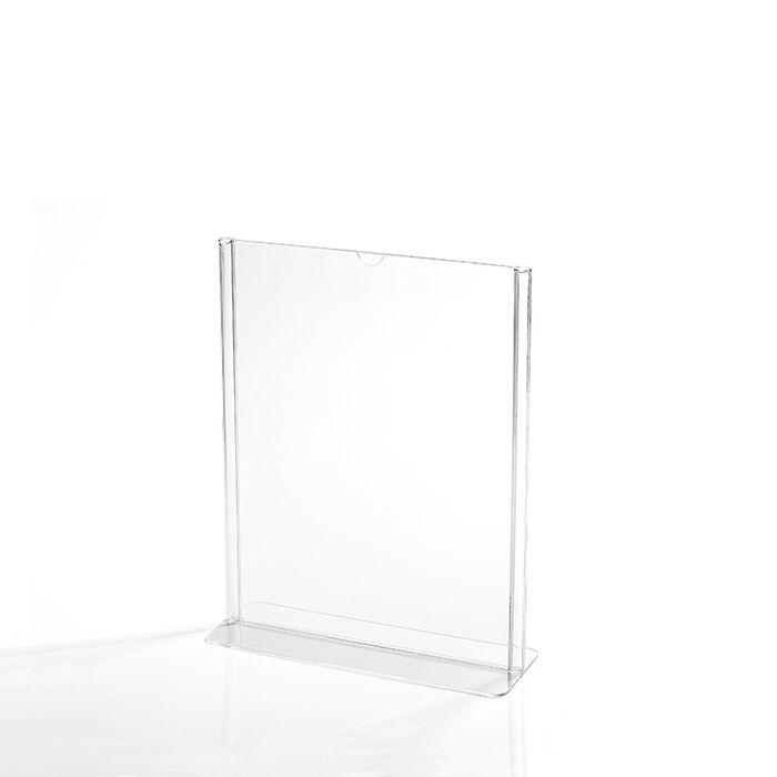 Kit Display em Acrílico Tipo T A6 Vertical (10x15cm) - 10 Peças