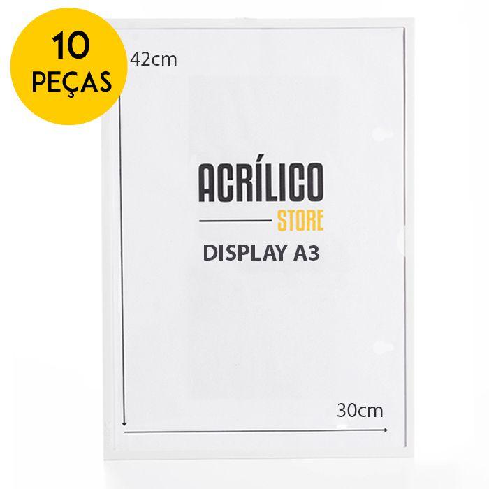 Kit Display Magnético A3 - 10 Peças