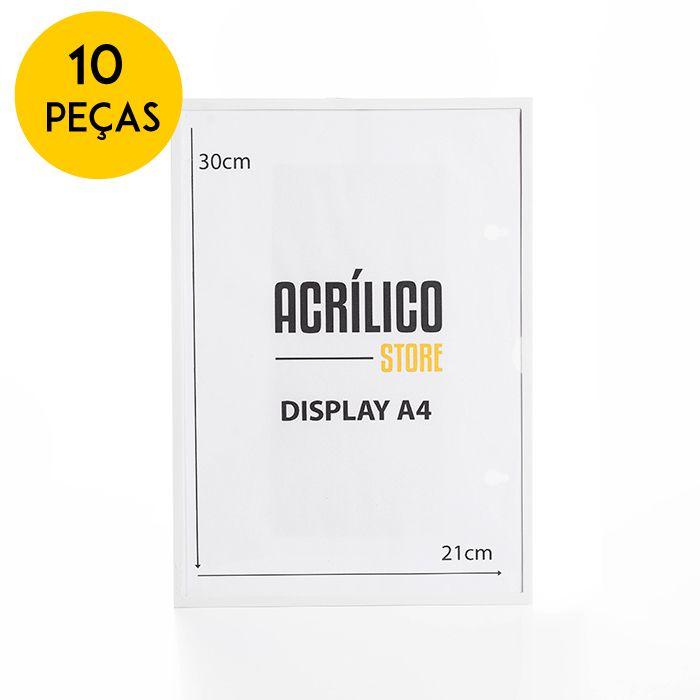 Kit Display Magnético A4 - 10 Peças