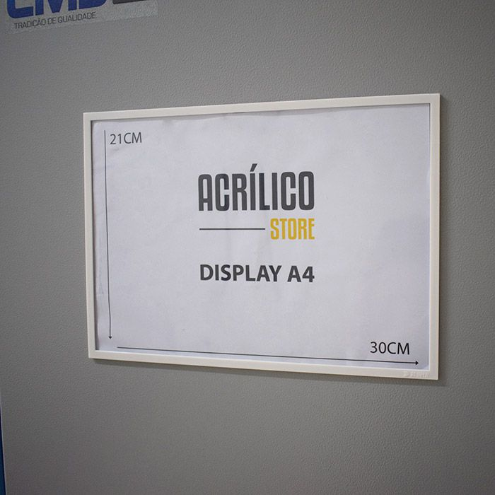 Kit Display Magnético A4 - 50 Peças