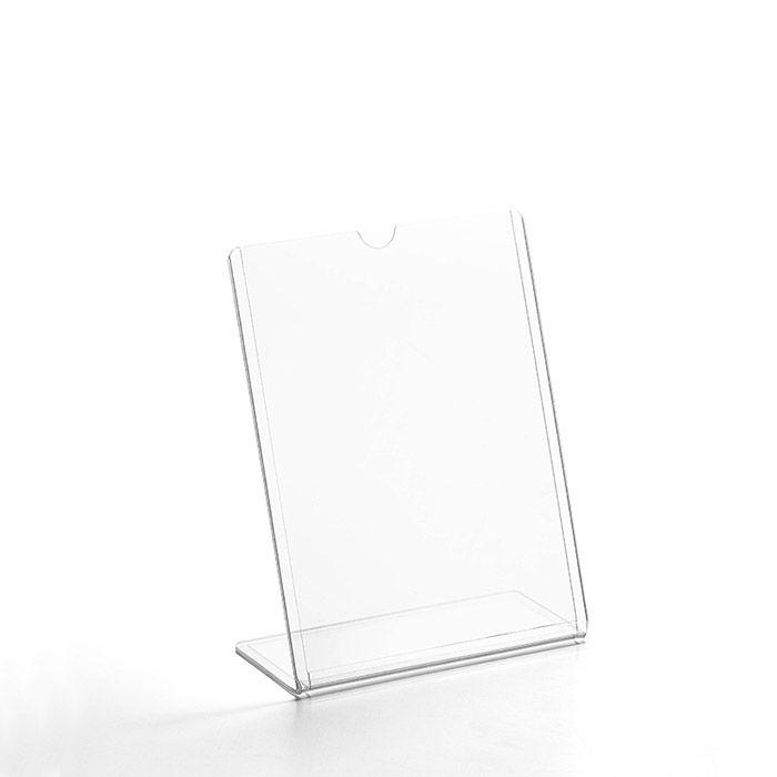 Kit Display transparente tipo L A6 Vertical (10x15cm) - 10 Peças