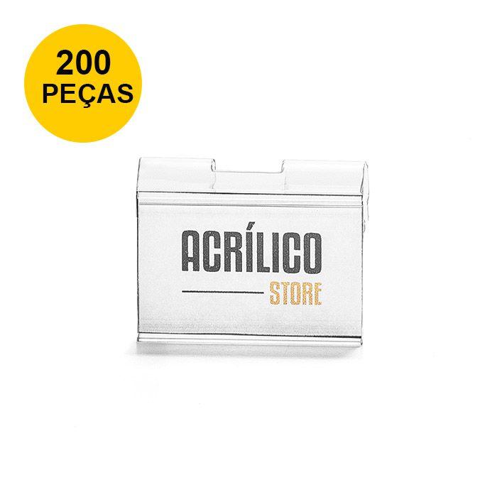 Kit Etiqueta PVC para Gancheiras 30x45mm - 200 Peças