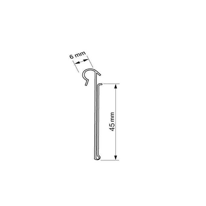 Kit Etiqueta PVC para Gancheiras 30x45mm - 500 Peças