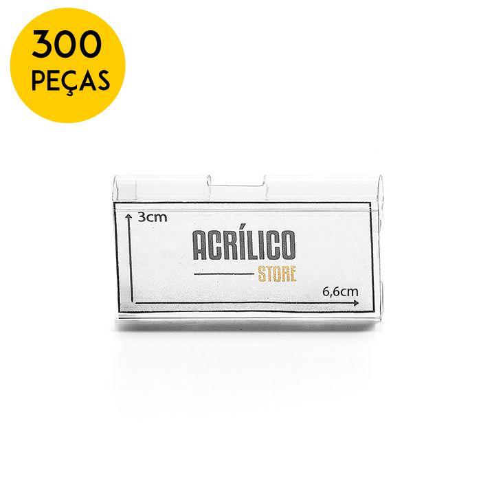 Kit Etiqueta PVC para Gancheiras 30x66mm - 300 Peças