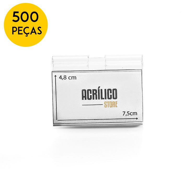Kit Etiqueta PVC para Gancheiras 48x75mm - 500 Peças