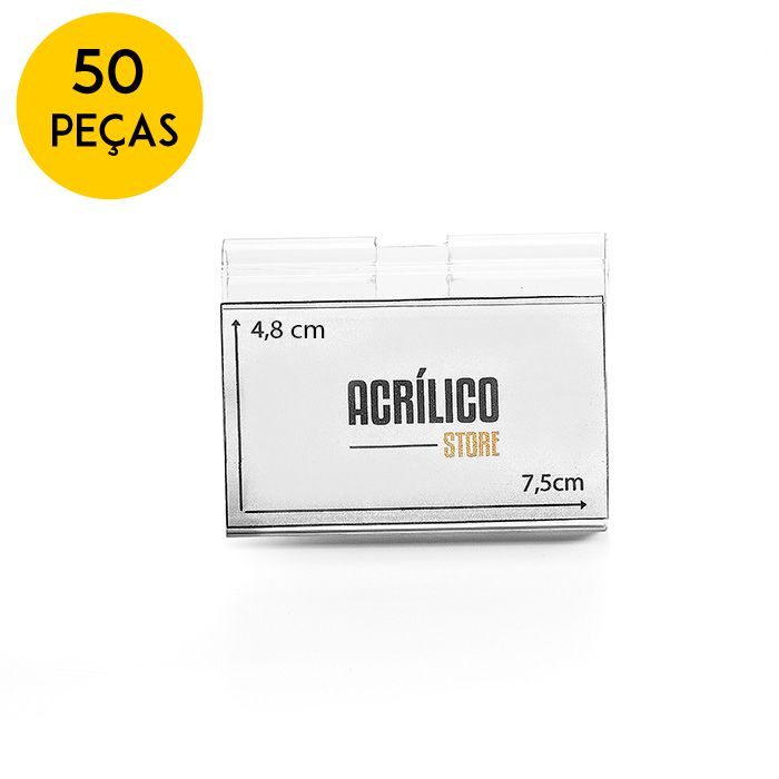 Kit Etiqueta PVC para Gancheiras 48x75mm - 50 Peças