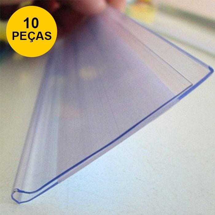 Kit Etiqueta PVC para Gondola Modelo U 50x3,6cm - 10 peças