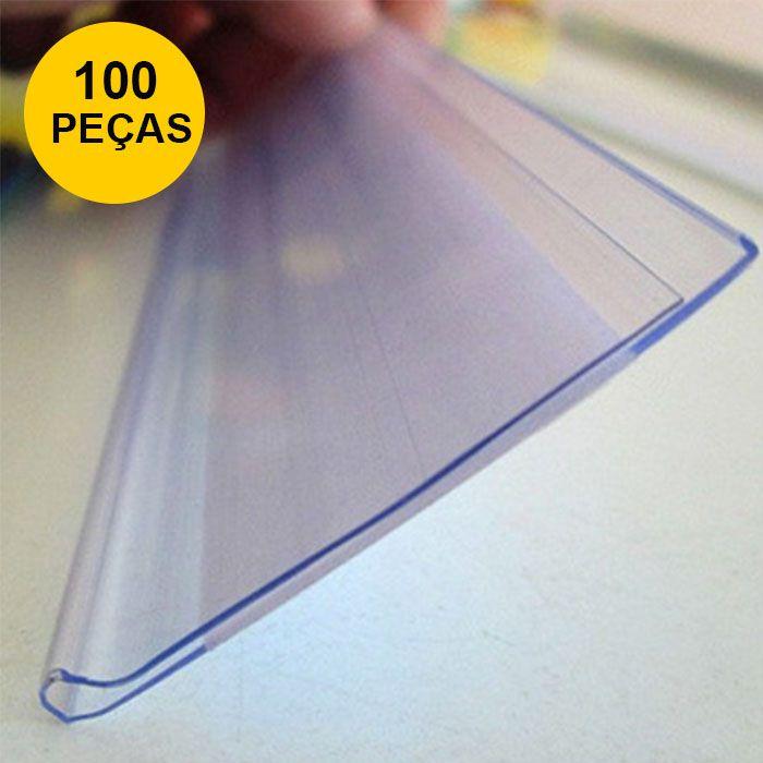 Kit Etiqueta PVC para Gondola Modelo U com 100cm - 100 Peças