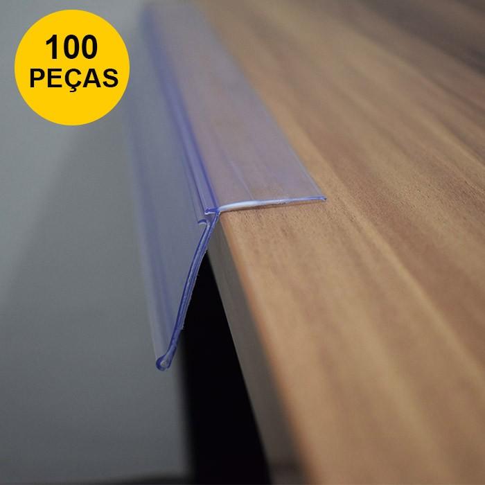 Kit Etiqueta PVC para Prateleira 100cm - 100 Peças